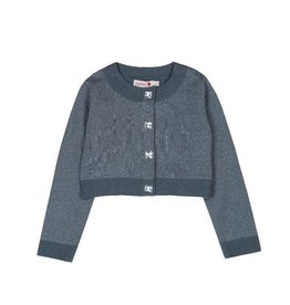 Boboli Boboli Knitwear jacket for girl ash