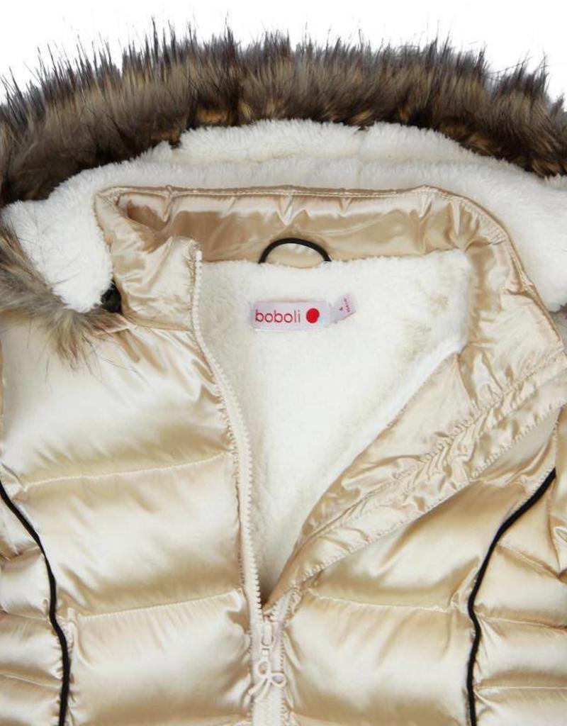 Boboli Boboli Technical fabric parka for girl gold