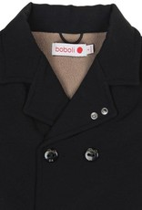 Boboli Boboli Technical fabric coat for boy BLACK