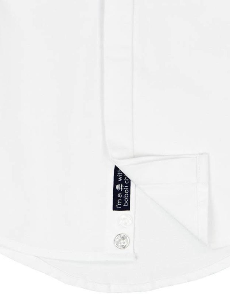 Boboli Boboli Oxford long sleeves shirt for baby boy WHITE