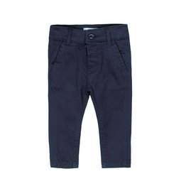 Boboli Boboli Stretch satin trousers for baby boy navy