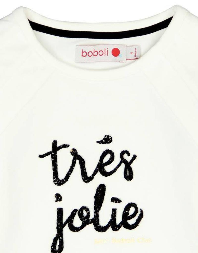 Boboli Boboli Stretch knit t-Shirt for girl OFF WHITE-5