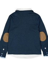 Boboli Boboli Knit combined polo for boy navy