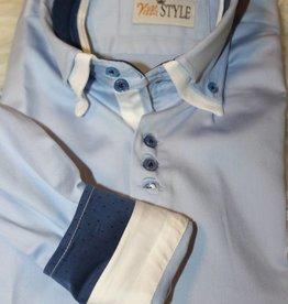 Villa Style Villa Style Overhemd licht blauw met hoog boord