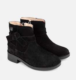 Mayoral Mayoral Ribbon leather bootie Black