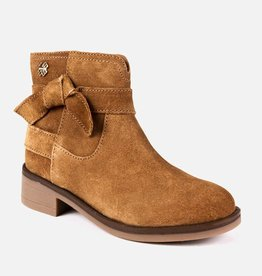 Mayoral Mayoral Ribbon leather bootie Camel