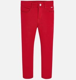 Mayoral Mayoral Fleece basic trousers Red