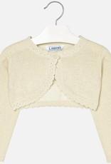 Mayoral Mayoral Basic knitted cardigan Champagne-2