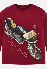 "Mayoral Mayoral L/s ""high speed"" t-shirt Red Wine"