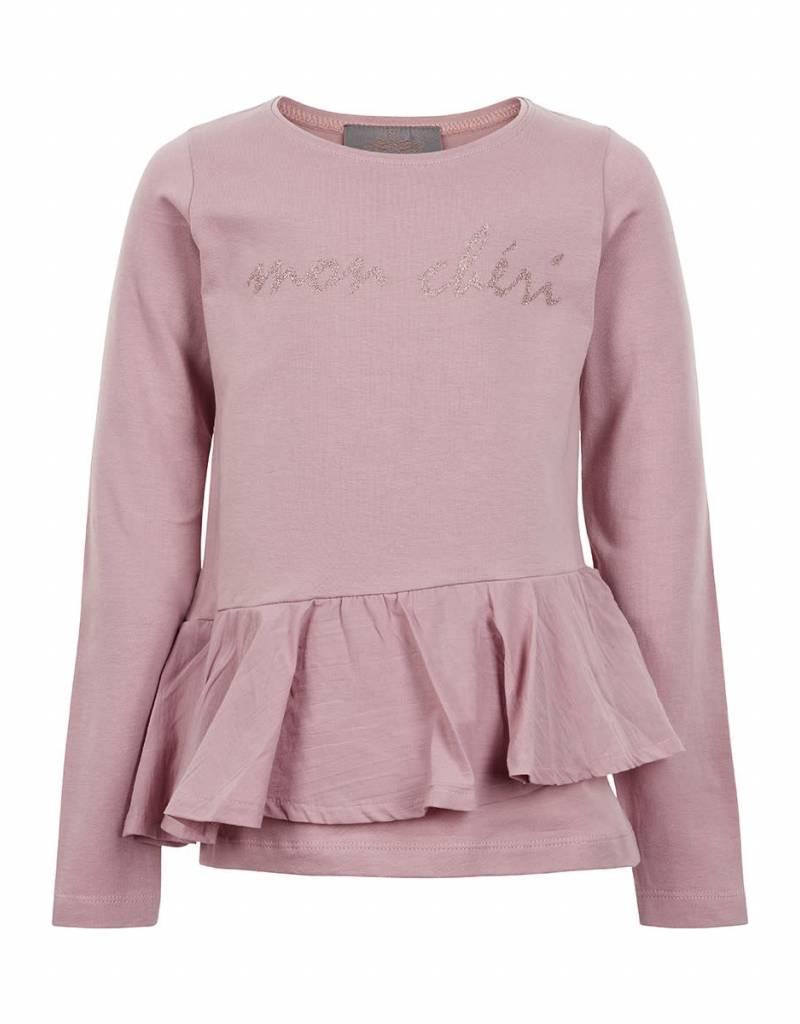 Creamie Creamie Shirt oudroze met roesel op het voorpand