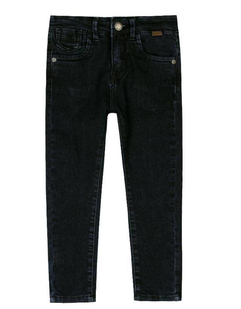 Boboli Boboli Denim stretch trousers for boy BLACK