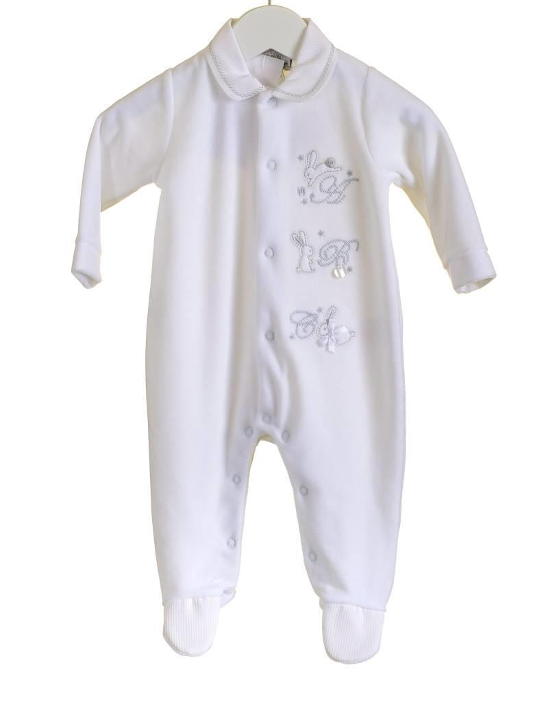 Blues baby Blues Babywear Pakje wit velours met voet
