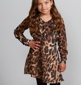 Jacky Jacky jurk tijgerprint met v hals