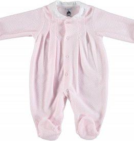 Babidu Babidu Baby pakje roze velours met wit kraagje