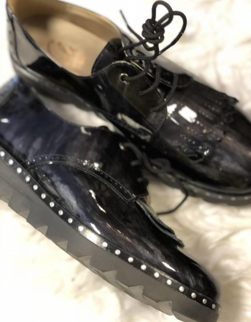 eli Eli schoen zwart lak met veter