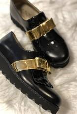 eli Eli schoen zwart met gouden strik