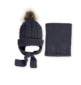 Mac Ilusion Mac Ilusion Muts en sjaal donkerblauw