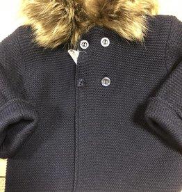 Mac Ilusion Mac Ilusion jasje donkerblauw met bontkraag