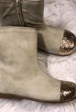 eli Eli suede laarsjes met goudkleurige glitters