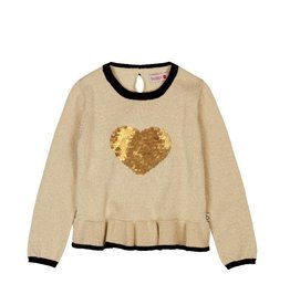 Boboli Boboli Knitwear pullover for girl beige-2