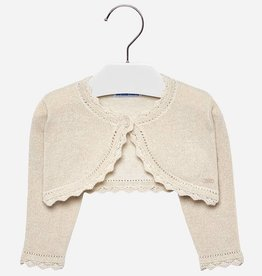 Mayoral Mayoral Basic knitted cardigan Champagne-3