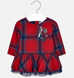 Mayoral Mayoral Plaid dress Red