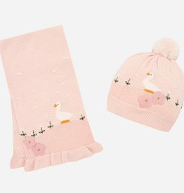 Mayoral Mayoral Hat-scarf set Rose