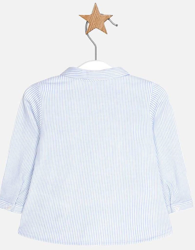 Mayoral Mayoral L/s striped shirt Sky