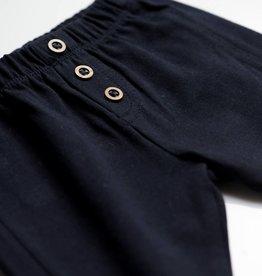 Jottum Jottum broekje tricot donkerblauw met houten knoopjes