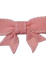 Hairclippy Hairclippy Strik roze met wit stiksel randje