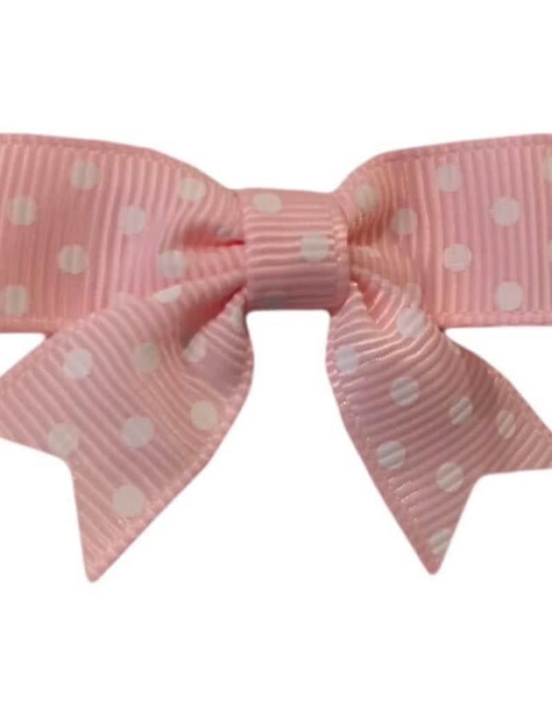 Hairclippy Hairclippy Strik roze met stipjes