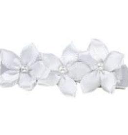 Hairclippy Hairclippy wit met kleine bloempjes
