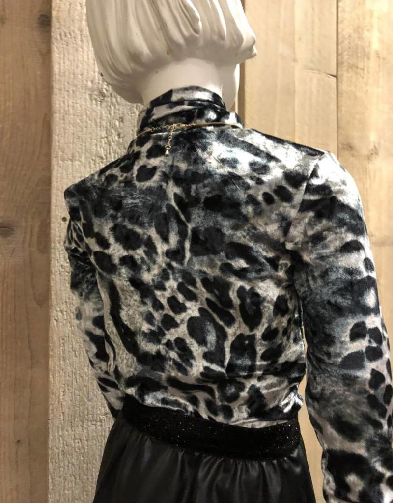 Villa Style Villa Style shirt tijgerprint zwart/grijs