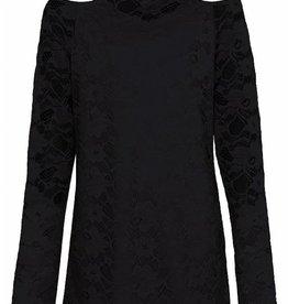 D- Xell D-XEL shirt van kant zwart