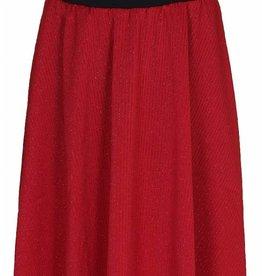 D-Xel D-XEL rok rood met fijne glitter