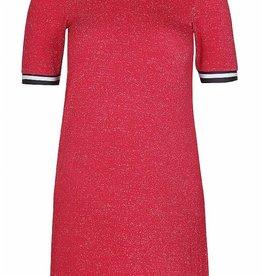 D-Xel D-XEL jurk rood met glitter