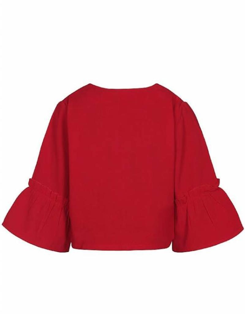 D-XEL blazer rood met wijde mouw