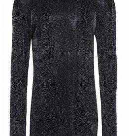D-Xel D-XEL shirt zwart doorzichtig met glitter