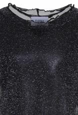 D-XEL shirt zwart doorzichtig met glitter