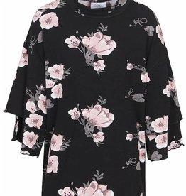D-Xel D-XEL shirt zwart met bloemen