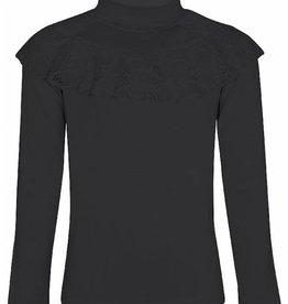 KIDSUP KIDS UP shirt zwart met kant