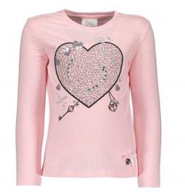 Le Chic Le Chic shirt roze met glitter hart