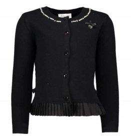 Le Chic Le Chic vest zwart met parels en roezel