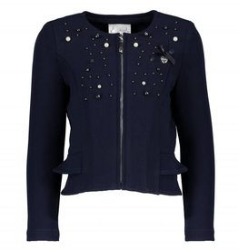 Le Chic Le Chic blazer donkerblauw met steentjes