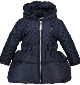 Le Chic Le Chic jas donkerblauw met glitters en strikjes