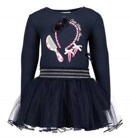 Le Chic Le Chic jurk donkerblauw met tule rok