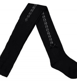Le Chic Le Chic maillot zwart met steentjes en strikje