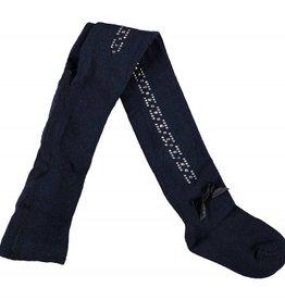 Le Chic Le Chic maillot donkerblauw met steentjes en strikje