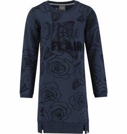 Baker Bridge Baker Bridge jurk donkerblauw met rozen