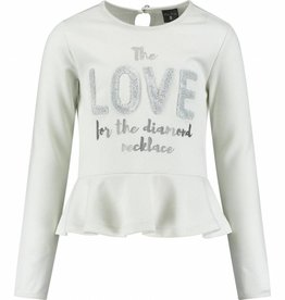 Baker Bridge Baker Bridge crème love shirt met roezel